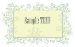 Free Floral Frame Royalty Free Stock Images - 19129219