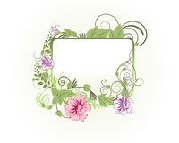 Floral frame. Abstract floral vector frame backgrounds  in Victorian style Stock Photography