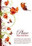Floral frame. Grunge floral frame with butterfly, element for design,  illustration Royalty Free Stock Image