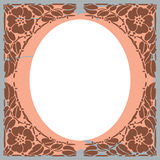 Floral frame. Vector (insert your photo Royalty Free Stock Image