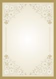 Floral  frame. For diploma or certificate Stock Photos