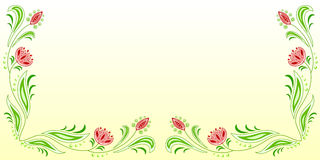 Floral frame_2 Royalty Free Stock Photo
