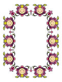 Floral frame 2. Vector floral frame for your text sample, childish, funny frame for birthday card Stock Image