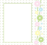 Floral frame. Cute frame with squares and flowers Royalty Free Stock Image