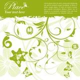 Floral frame. Grunge floral frame with butterfly, element for design, vector illustration Royalty Free Stock Images