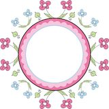 Floral frame. Decorative spring frame with flowers Stock Illustration