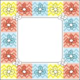 Floral frame. Colorful spring frame with flowers Royalty Free Illustration