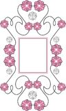 Floral frame. Decorative spring frame with flowers Vector Illustration