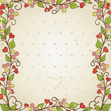 Floral frame. Stock Photo