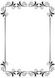 Floral frame. Illustration of floral frame design isolated on white background Royalty Free Stock Images