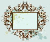 Floral frame. Abstract floral frame. Vector illustration Royalty Free Stock Photos