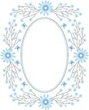 Floral frame. Decorative spring frame with flowers Royalty Free Illustration