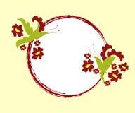 Floral frame. Artistic floral design with grunge frame Stock Image