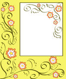 Floral frame. Artistic floral frame with blank space Royalty Free Stock Photos