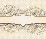 floral frame Stock Image