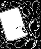 Floral frame. Royalty Free Stock Image