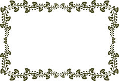 Floral frame. Silhouette of floral frame -  illustration Royalty Free Stock Photography