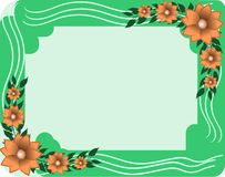 Colorful frame with flowers Stock Photo