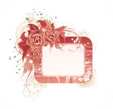 Floral frame. Crimson floral frame with roses for your text or photo Stock Images