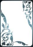 Floral frame. Design of a vector background in vintage style Stock Images