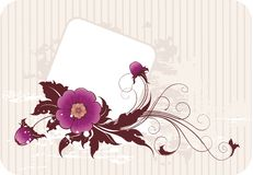 Floral frame. Frame for text with flowers and grunge elements Royalty Free Stock Photography