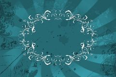 Floral frame. Background with some brush grunge effects Stock Images
