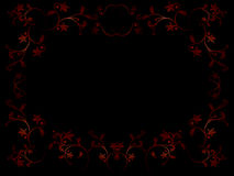 Floral frame. Vector floral frame on black background Stock Photos