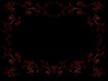 Floral frame. Vector floral frame on black background Stock Photos