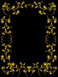 Floral frame. Vector floral frame on black background Royalty Free Stock Photography