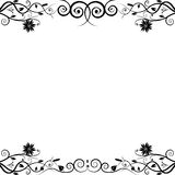 Floral frame. Black and white floral frame Royalty Free Stock Image