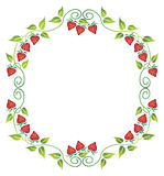 Floral frame. Vector floral frame with strawberry Royalty Free Stock Image