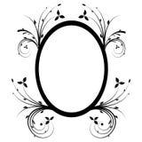 Floral frame. Illustration, black vector floral frame Stock Photo