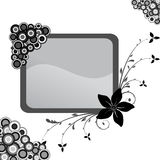 Floral frame. Illustration, black and white vector floral frame Royalty Free Stock Photography