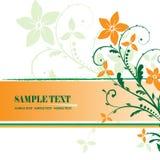 Floral frame. Illustration, green vector floral frame Royalty Free Stock Photos