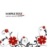 Floral frame. Illustration, red vector floral frame Royalty Free Stock Photos