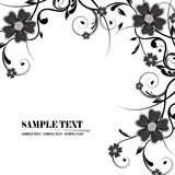 Floral frame. Illustration, black vector floral frame Royalty Free Stock Image