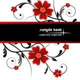 Floral frame. Illustration, red vector floral frame Royalty Free Stock Images