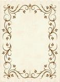 Floral frame. Elegant floral frame. Vector illustration Stock Image