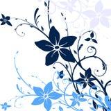 Floral frame. Illustration, blue vector floral frame Royalty Free Stock Image