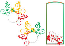 Floral frame. Three frames with floral borders in green background Royalty Free Stock Photos