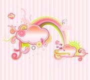 Floral frame royalty free illustration