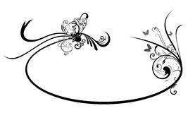 Floral frame. Illustration of oval frame with Abstract Floral motif Royalty Free Stock Photo