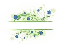 Floral frame. Spring floral frame with butterflies Vector Illustration