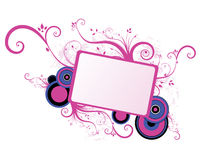 Floral frame. Pink floral frame on white background Vector Illustration