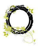 Floral frame. Olive, Floral frame on white background Royalty Free Stock Image