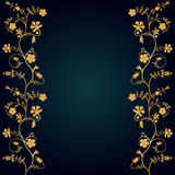 Floral frame. Vector floral frame on blue background Stock Images