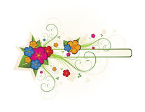 Floral frame. Beautiful foral frame for text Royalty Free Illustration