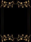 Floral frame. Vector floral frame on black background Stock Photo