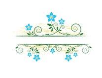 Floral frame. Summer floral frame for text Vector Illustration