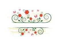 Floral frame. Summer floral frame for text Stock Illustration